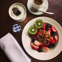 Our fashion week guest @Rumi Neely shares with us her morning breakfast on Instagram