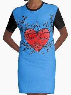 Women dressblue/black vegan heart Robe tee-shirt Bracelet Cuir, Tee Shirts, Tees, Vegan, Heart, Bracelets, Mens Tops, Black, Fashion