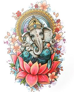 Make this Ganesha Chathurthi 2020 special with rituals and ceremonies. Lord Ganesha is a powerful god that removes Hurdles, grants Wealth, Knowledge & Wisdom. Ganesh Tattoo, Arte Ganesha, Lord Ganesha, Ganesha Drawing, Ganesha Painting, Outline Drawings, Art Drawings, Indian Art Paintings, Original Paintings