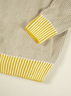 Universal Works Sand Rib Crew in 1/2 Knit | Universal Works