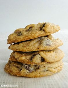 Soft Chocolate Chip Cookie Recipe #cookie wonkywonderful.com