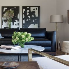 black leather sofa Living Room Contemporary with airy Art Belvedere black