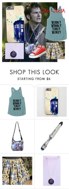 """Doctor Who - Tenth Doctor Summerwear"" by emsdragonoffire ❤ liked on Polyvore featuring Hot Topic and Converse"