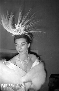 Nuit de la coiffure (evening dedicated to hairstyles). Paris, May 10, 1953.