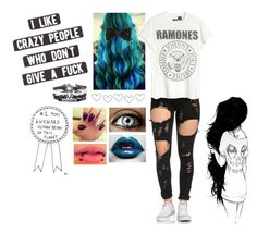 """Ramones"" by iammrsclifford ❤ liked on Polyvore"