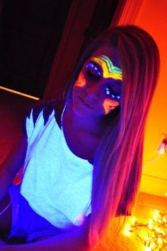 neon paint!