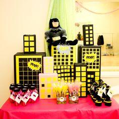 "Photo 1 of 31: Super Heroes, Batman, Batgirl, Hot Pink, Yellow, Black / Birthday ""Faith's 5th Batman/Batgirl Party""   Catch My Party"