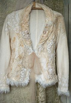 RESERVED Snow queenartful ornate embroidered jacket