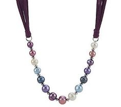 Honora Ringed Cultured Freshwater Pearl Necklace - QVC.com