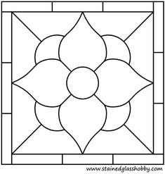 Free+Stained+Glass+Patterns+Flowers   Square panel flower stained glass outline