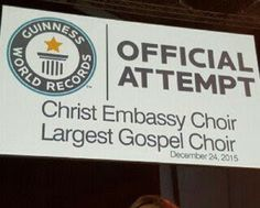 Ekpo Esito Blog: Pastor Chris attempts to break Guiness Book of Wor...