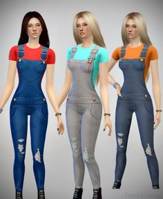 Jenni Sims: Jeans Overall • Sims 4 Downloads