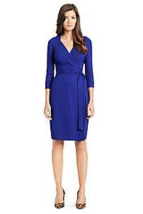 New Julian Two Jersey Wrap Dress in Tanzanite Blue by DVF