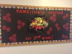 Welcome board for students in my class themed after Davidson College and the wildcats! School Welcome Bulletin Boards, Welcome Back To School, Classroom Bulletin Boards, Classroom Walls, Classroom Themes, Classroom Organization, Classroom Window, School Decorations, School Themes