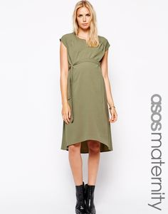 d242c42c700d Image 1 of ASOS Maternity Swing Dress With Dipped Hem Vestiti Premaman