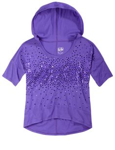 Super cute for layering for my 5-year old!! Embellished Sequin Boxy Hoodie | Short Sleeve | Tops & Tees | Shop Justice