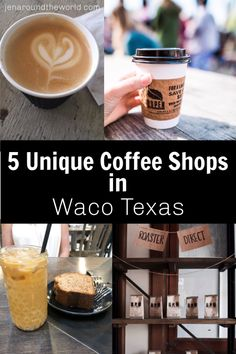 5 Coffee Shops You Need to Visit in Waco Texas - Jen Around the World These 5 coffee shops in Waco Texas definitely need to be on your radar if you are visiting the area anytime soon. Coffee Shops, Best Coffee Shop, Great Coffee, Coffee Coffee, Waco Texas, Austin Texas, Texas Travel, Travel Usa, Texas Roadtrip
