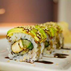 Teriyaki chicken sushi roll recipe - Learn how to create stunning sushi dishes with the guidance of self-taught sushi chef, Davy Devaux. Cooked Sushi Rolls, Homemade Sushi Rolls, Cooked Sushi Recipes, Sushi Roll Recipes, Cooking Recipes, Making Sushi Rolls, Fish Recipes, Yummy Recipes, Chicken Recipes