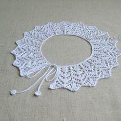 Örgü Yaka Örnekleri ,  #crochetfreepattern #dantelyakamodelleri #knitting…