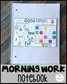 Morning Work Collective Notebook for the Year {Kindergarten} - Kindergarten Rocks Resources