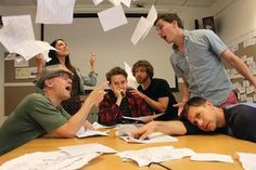 """Alex Hirsch and another day in the writers' room"">>>It's probably a lot of fun, y'know, after all the STRESS..."