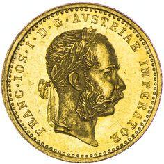 Franz Joseph I. 1848 - 1916,  Dukat 1874 Gold