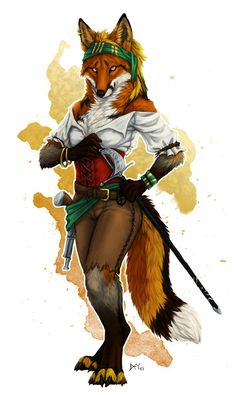 Similar to what she wears day to day. Anime Furry, Anime Wolf, Fox Character, Character Design, Dnd Characters, Fantasy Characters, Female Fox, Furry Girls, Furry Drawing