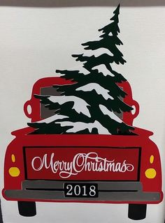 Country Christmas red pick up truck art images de noel Rustic Christmas, Vintage Christmas, Christmas Holidays, Xmas, Christmas Ornaments, Christmas Red Truck, Happy Holidays Cards, Country Christmas Crafts, Christmas Crack