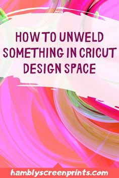 Is it possible to unweld something made in Cricut Design Space? Hambly Screen Prints says this question is found across many resources. When making a mistake during the creation process it is common to ask if it is possible to undo what has been done. It can be quite frustrating when one has crossed the line in a project where it is not possible to take a step back and save all the work. Sometimes it will be right after that one step that one reached the point of no return. Read more... Welding Process, Vinyl Cutting, Cricut Design, Screen Printing, This Or That Questions, Space, Creative, Prints, How To Make