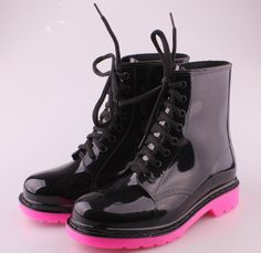 Luann-12 Clear Jelly Combat Boots -- MR | Holler - Women Shoes ...