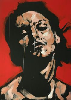 Portrait, woman, acrylic on canvas