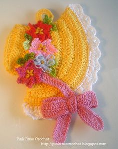 \ PINK ROSE CROCHET /: Pega Panelas de Crochê   Crochet Sunbonnet Pot Hol...
