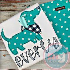 Weenie Dogs, Applique Designs, Embroidery Applique, Monogram, Dachshund, Dachshund Dog, Monograms