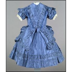 Child's dress, ca 1870 US or UK, Colonial Williamsburg -- < found at this Gallery of pins ... http://www.pinterest.com/search/pins/?q=vintage%20kindergarten%201800s&term_meta[]=vintage|typed&term_meta[]=kindergarten|typed&term_meta[]=1800s|typed . >