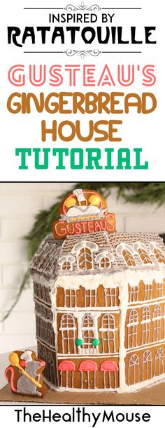 DIY tutorial to create a Gusteau's gingerbread house inspired by Pixar's Ratatouille Disney Themed Food, Disney Inspired Food, Disney World Food, Disney Snacks, Disney Diy, Disney Crafts, Disney Recipes, Disney Christmas Decorations, Disney Christmas Shirts