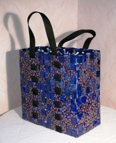 Bag Patterns To Sew, Beaded Bags, Diy Projects To Try, Homemade Gifts, Sustainable Fashion, Repurposed, Upcycle, Recycling, Coffee Bags