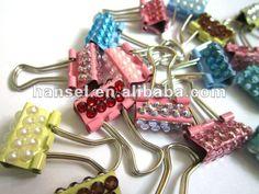 Binder clip with stones
