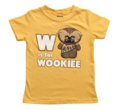 Toddler Star Wars W Is For Wookiee T-Shirt from T-Shirts.com for $19.99
