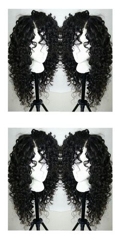 Long Curly Side Parting Synthetic Lace Front Wig