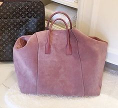 Dying over this Aerin Suede Weekender Bag