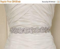 SALE  AMELIA  Bridal Gown Sash Belt Crystal Sash by lolaandmadison