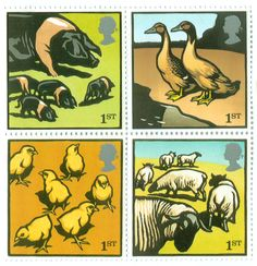 Farm Animal Stamps by Christopher Wormell