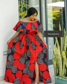 Items similar to Ankara flowers dress for women's / kinte long dress / Africa print wax long dress / party and wedding dress on Etsy African Print Dress Designs, African Print Dresses, African Print Fashion, Africa Fashion, Latest African Fashion Dresses, African Dresses For Women, African Attire, African Traditional Dresses, Kitenge