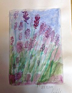 Blumenwiese - Aquarell - Lilli