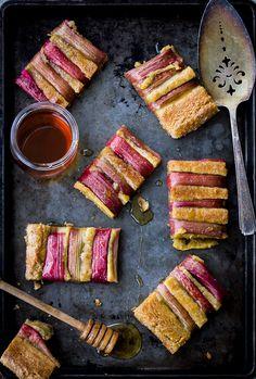 Rustic Rhubarb, Almond, and Honey Tart