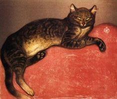 Théophile Alexandre Steinlen  Swiss, 1859 - 1923  Cat on a Cushion: Winter    Date: 1896
