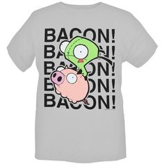 149b0e65a34a Hot  Topic Invader Zim Gir Bacon T-Shirt 3xl ❤ liked on Polyvore Invader