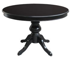Round extendable black table 100 cm - ItalianStyle by ArteFerretto. Very reliable wooden structure and very elegant black finishing. http://www.italian-style.co.uk/wp/product/round-extendable-table/
