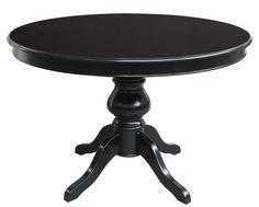 Tavolo rotondo allungabile nero 100 cm - ArteFerretto. Questo tavolo  rotondo… Tavolo Nero e84e8470ffc5