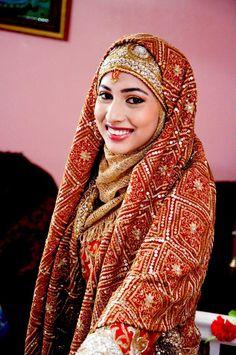 Special wedding hijab style 2015